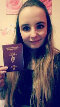 Kelly Lynch says the main reason she applied for an Irish passport was to ensure EU status