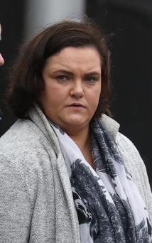 Mairead Butler from Clondalkin, Dublin pictured leaving the Four Courts after she settled her High Court action for damages. Pic: Collins Courts