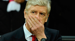 'Wenger, for all his recent mistakes, is out of place as the sole occupant of the dock.' Photo: AP