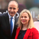 Fianna Fáil leader Micheal Martin and FF candidate for Dublin Fingal Lorraine Clifford Lee during the launch of Fianna Fail's general election campaign last year. The party could soon find itself back on the campaign trail. Photo: Gareth Chaney