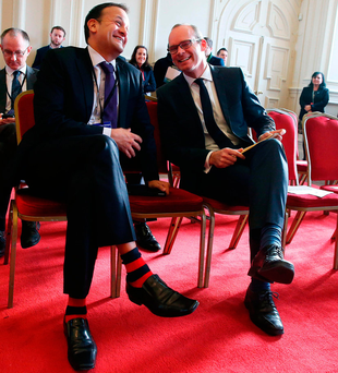 Ministers Leo Varadkar (left) and Simon Coveney. Photo: Brian Lawless/PA Wire