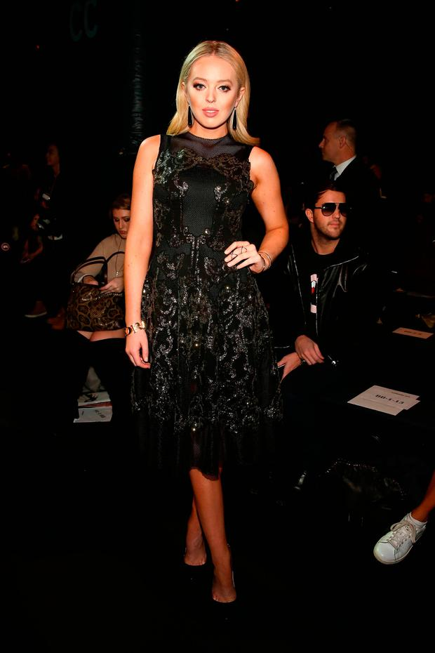 Tiffany Trump attends Vivienne Tam FW2017 Runway Show show at Gallery 1, Skylight Clarkson Sq during New York Fashion Week: The Shows on February 15, 2017 in New York City. (Photo by Monica Schipper/Getty Images for New York Fashion Week: The Shows)