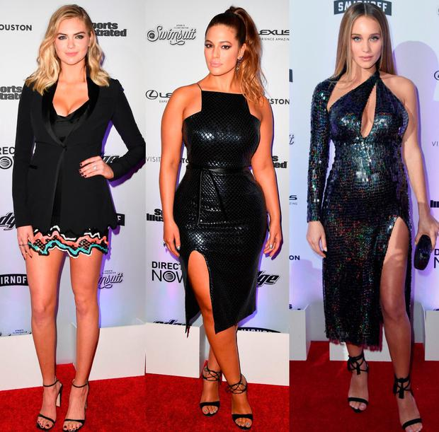 (L to R) Kate Upton, Ashley Graham and Hannah Jeter