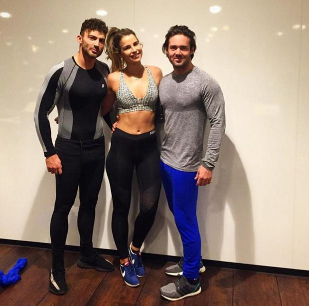 Vogue Williams with Jake Quickenden and Spencer Matthews