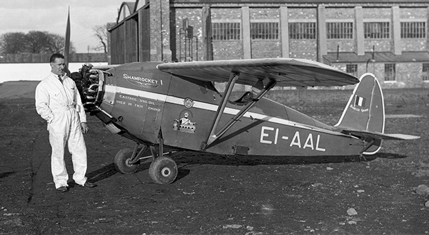Scally with his plane the Shamrocket 1