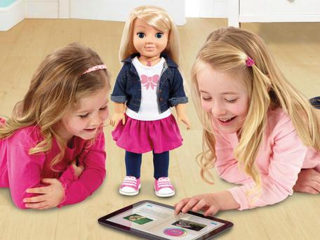The doll answers users' questions by using a web connection
