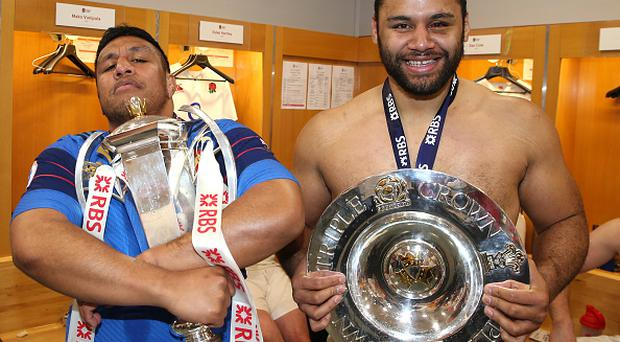 Billy Vunipola and his brother Mako Vunipola could both be fit to face Ireland on March 18 (Photo by David Rogers - RFU/The RFU Collection via Getty Images)