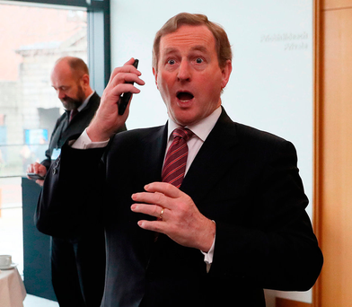 Called out: Taoiseach Enda Kenny attends the second All-Island Civic Dialogue on Brexit at Dublin Castle yesterday Photo: PA