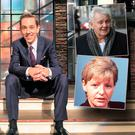 Late Late Show host Ryan Tubridy and inset John Gilligan and Veronica Guerin