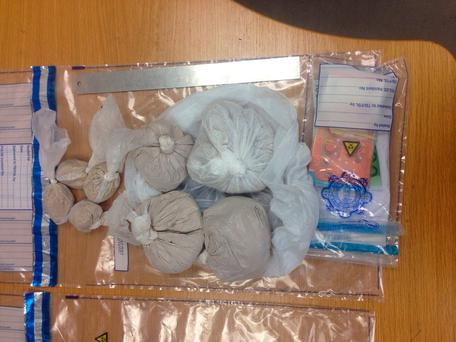 Seizure of Heroin Ballymun on the 17th February 2017. Picture: Garda Press Office