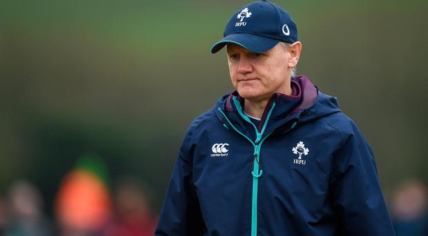 Ireland head coach Joe Schmidt during an open training session at the Monaghan RFC grounds in Co. Monaghan. Photo by Seb Daly/Sportsfile