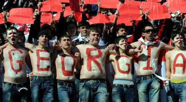 Georgia is a rugby-mad country CREDIT: AFP