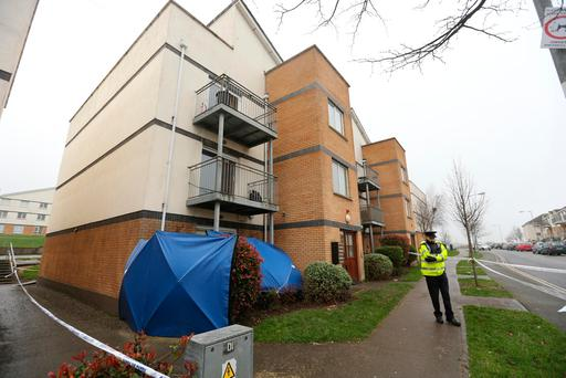 Scene of stabbing in Deerpark Avenue, Tallaght. Picture: Gerry Mooney