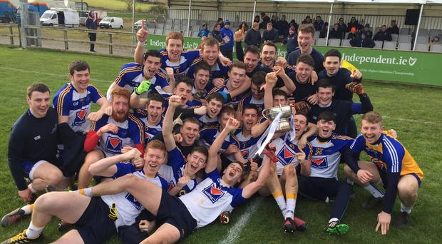 Dundalk IT celebrate today with the Trench Cup