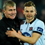 Dundalk manager Stephen Kenny with Andy Boyle Photo: David Maher/Sportsfile