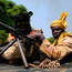 The United Nations does not have the troop numbers to forcibly disarm the militias in the Central African Republic or intimidate them into dumping arms but it is successful in that its presence is ensuring that rebels in Bambari and outside the town refrain from massacring their opponents Photo: SIA KAMBOU/AFP/Getty Images