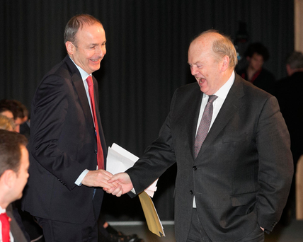 Fianna Fail leader Micheal Martin and Fine Gael's Michael Noonan Picture: Collins