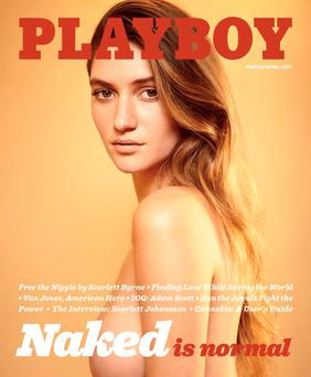 Nudes: Elizabeth Elam is the cover star on the new Playboy