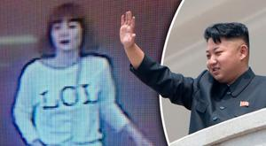 One of the women arrested by Malaysian police (left). Kim Jong-un (right)