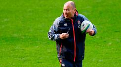 Head coach Eddie Jones has England on course for a record 19 wins in a row. Photo: Getty Images