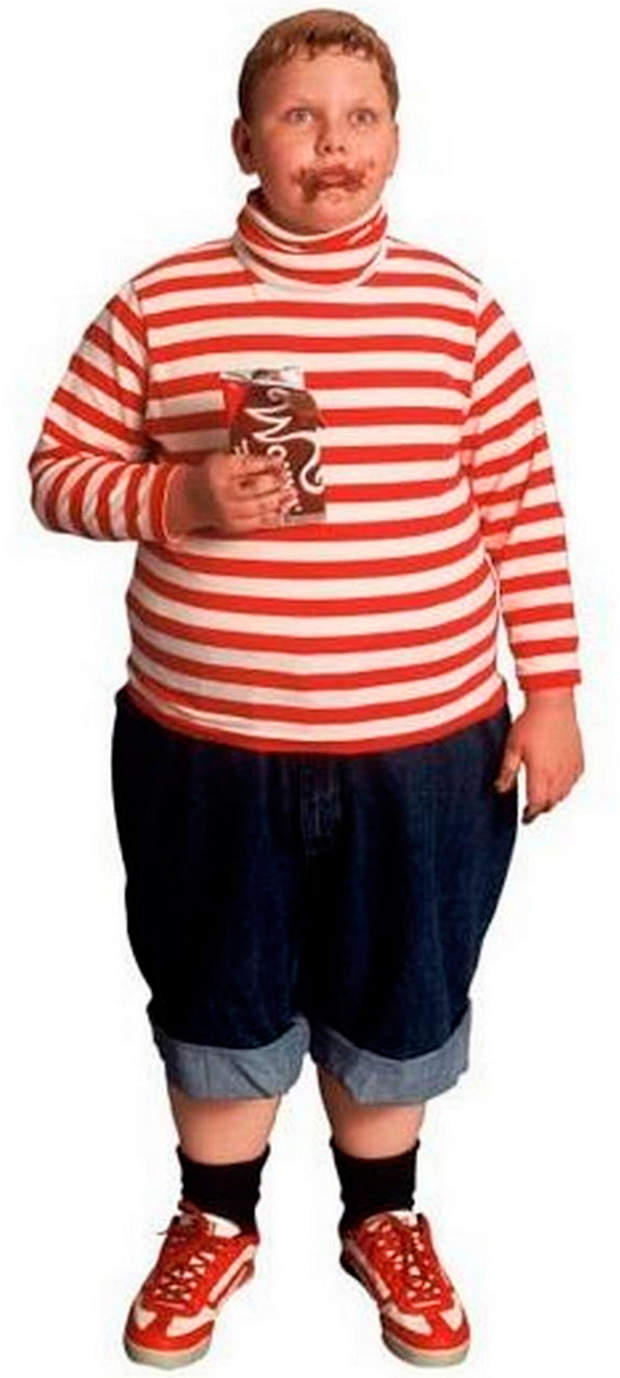 Augustus Gloop fattened up for the 2005 remake
