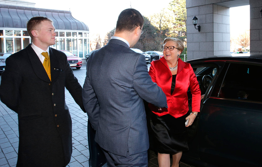 Tanaiste Frances Fitzgerald was among the guests Photo: Gerry Mooney