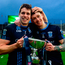 Lee Keegan of St. Patrick's Westport celebrates with Phil Keegan