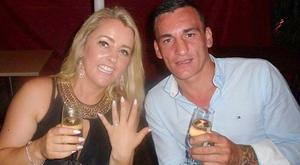 Tina Cahill and David Walsh celebrating their engagement in Australia in a social media picture at the New Year