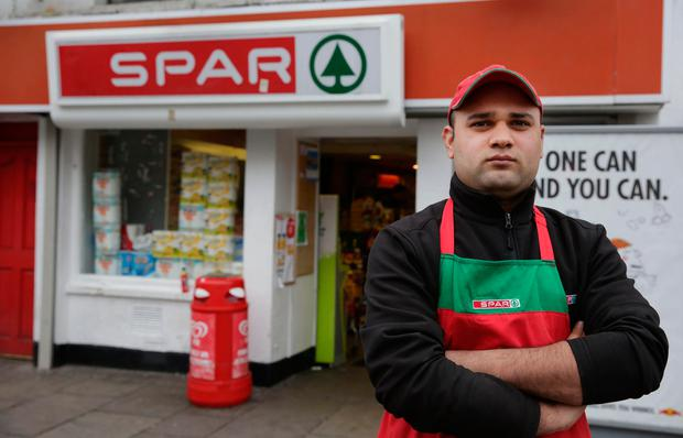 Umair Waris, who works at the shop. Photo: Gerry Mooney