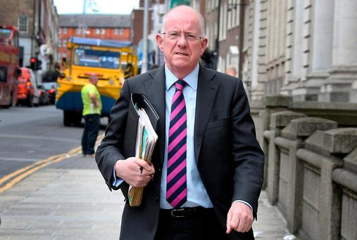Foreign Affairs Minister Charlie Flanagan (pictured) told the group that Simon Harris was being encouraged to run for the leadership by Tánaiste and Justice Minister Frances Fitzgerald. Photo: Tom Burke