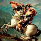 A painting depicting Napoleon on Marengo
