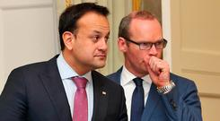 Simon Coveney and Leo Varadkar are seen as favourites to succeed Enda Kenny. Photo: Collins