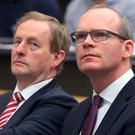 Simon Coveney and Enda Kenny Photo: Damien Eagers