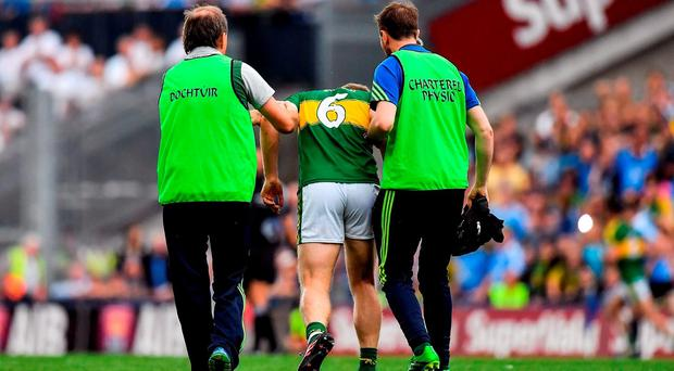 'Peter Crowley was cut in two by a Dublin player but there was no free.' Photo by Brendan Moran/Sportsfile