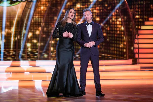 Presenters Amanda Byram and Nicky Byrne on Dancing with the Stars. Picture: Kyran O'Brien