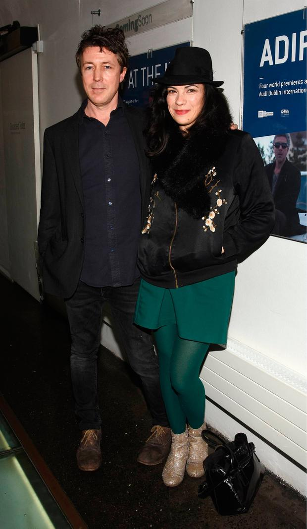 Aidan Gillen and Camille O'Sullivan at an ADIFF 2017 screening of Pickups at The IFI Cinema, Dublin