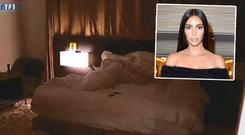 Photos of the crime scene where Kim Kardashian was robbed in Paris. Picture: TF1