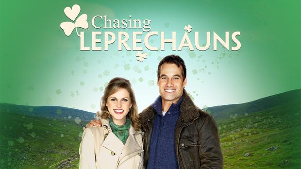 Amy Huberman and Adrian Pasdar in Hallmark's Chasing Leprechauns (2012)