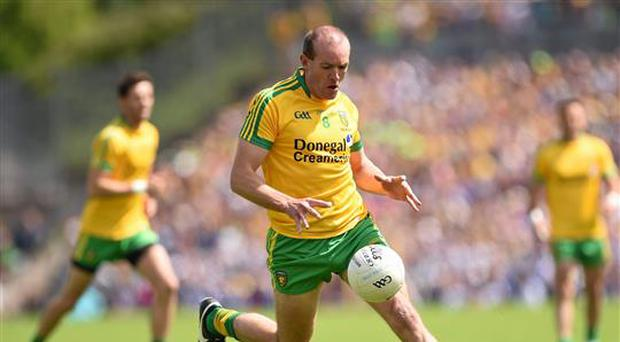 19 July 2015; Neil Gallagher, Donegal. Ulster GAA Football Senior Championship Final, Donegal v Monaghan, St Tiernach's Park, Clones, Co. Monaghan. Picture credit: Stephen McCarthy / SPORTSFILE