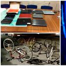 Some of the items seized during a multi-agency checkpoint in Balbriggan. Picture: Garda Press Office