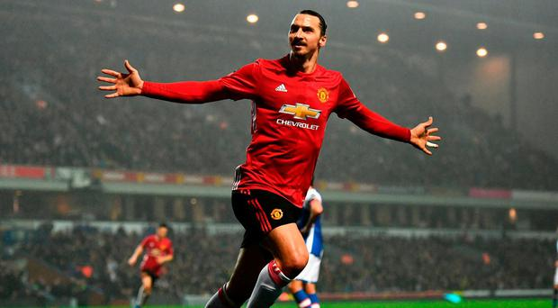 Zlatan Ibrahimovic has proven to be a remarkable influence on Manchester United this season Photo: Dan Mullan/Getty Images