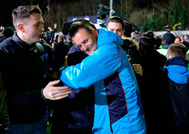 Sutton manager manager Paul Doswell after the match Photo: Andrew Matthews/PA Wire