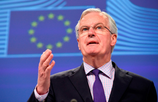 The suggestion that Britain should pay instalments until 2023 was made at a meeting earlier this month between Michel Barnier, the European Commission's chief Brexit negotiator, and senior officials from the 27 remaining EU member states. Photo: AFP/Getty Images
