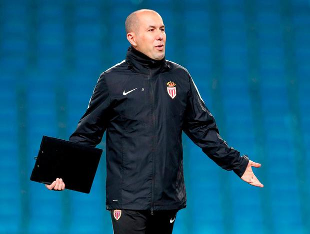 Monaco manager Leonardo Jardim. Photo: Martin Rickett/PA Wire.