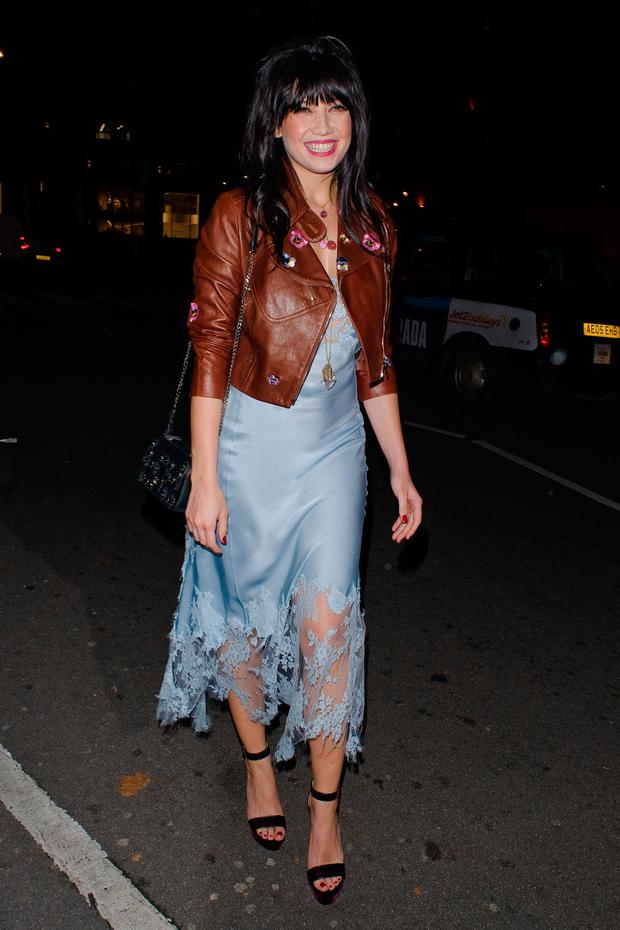 eef693e3a8 Daisy Lowe attending the Burberry party at Annabels on Day 4 of London  Fashion Week February