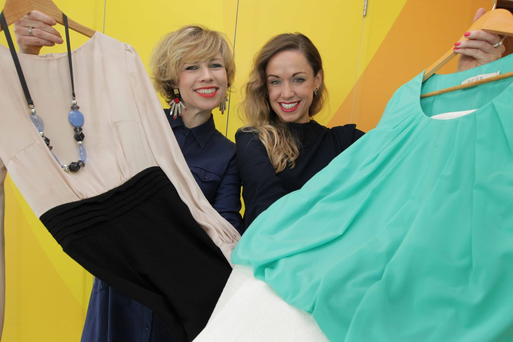 Pictured at the launch of the Dress for Success Dublin International Women's Day (IWD) campaign were Sonya Lennon, designer, tech entrepreneur and founder of Dress for Success Dublin, and Michelle Toner, Head of CSR, Eir.