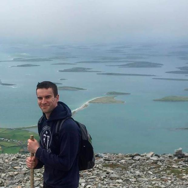 Leo Varadkar's partner Matthew Barrett on top of Croagh Patrick