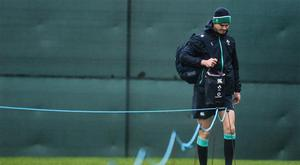 21 February 2017; Jonathan Sexton of Ireland during squad training at Carton House in Maynooth, Co Kildare. Photo by David Maher/Sportsfile
