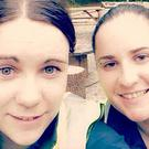 Kayla (left in both images) made the difficult decision to seek professional help after her friend Caitriona (right in both images) told her she was feeling suicidal