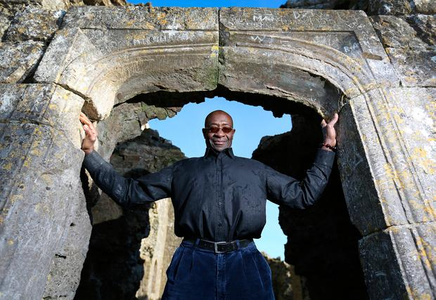 Former Irish boxing coach Nicholas Cruz pictured at the Rock of Dunamase near Portlaoise. Picture:Frank McGrath